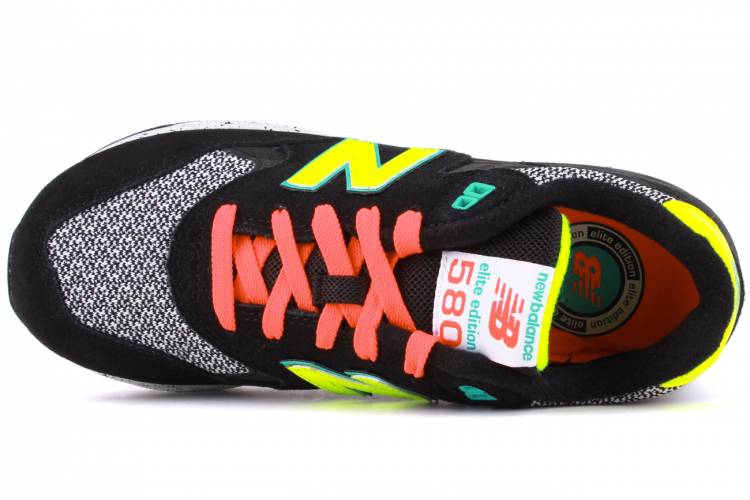 New Balance 580 Elite Edition WRT580BK Running Shoes For Women Black Teal Lime Green