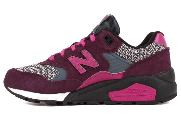 New Balance WRT580CM Elite Edition Womens Running Sneaker Purple Grey Rose Black White
