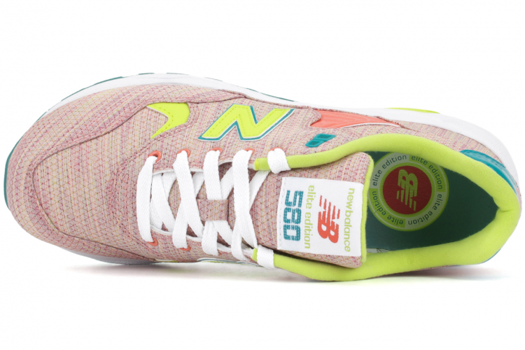 New Balance 580 Sorbet Pack WRT580SP Elite Edition Sneakers For Women Pink Lime Green Orange Teal White