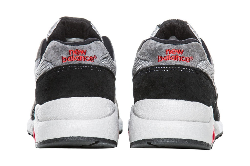 New Balance Elite Edition Detective 580 Running Sneaker For Men Grey Silver Black White Red
