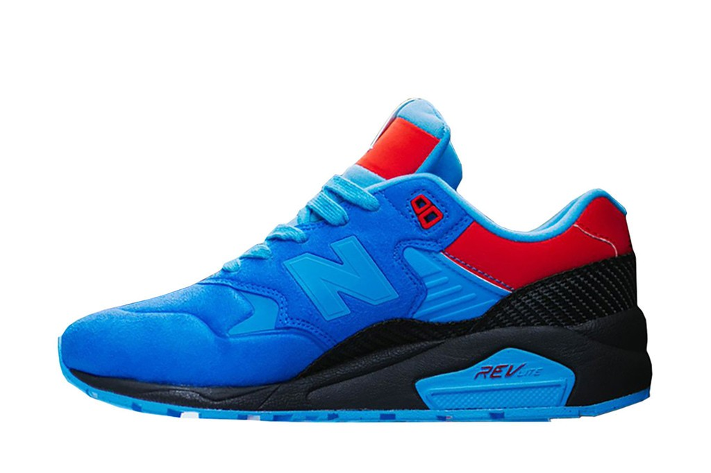 Gallery x New Balance 580 RevLite Tour De Miami Trainers For Men Blue/Red/White