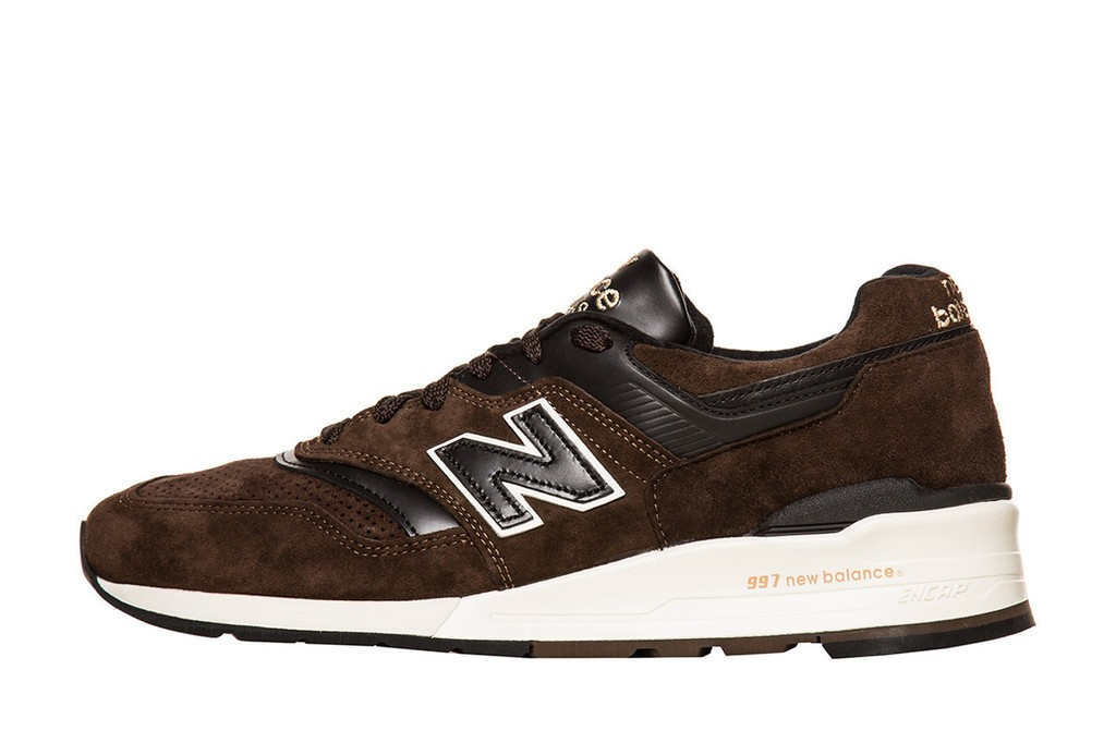 New Balance Distinct Authors Collection 997 Made In USA Men Shoes Dark Brown Black Off White