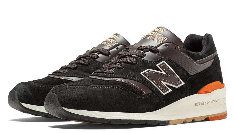 Mens New Balance 997 Distinct Authors Made In USA M997PR Shoes Black Brown Orange