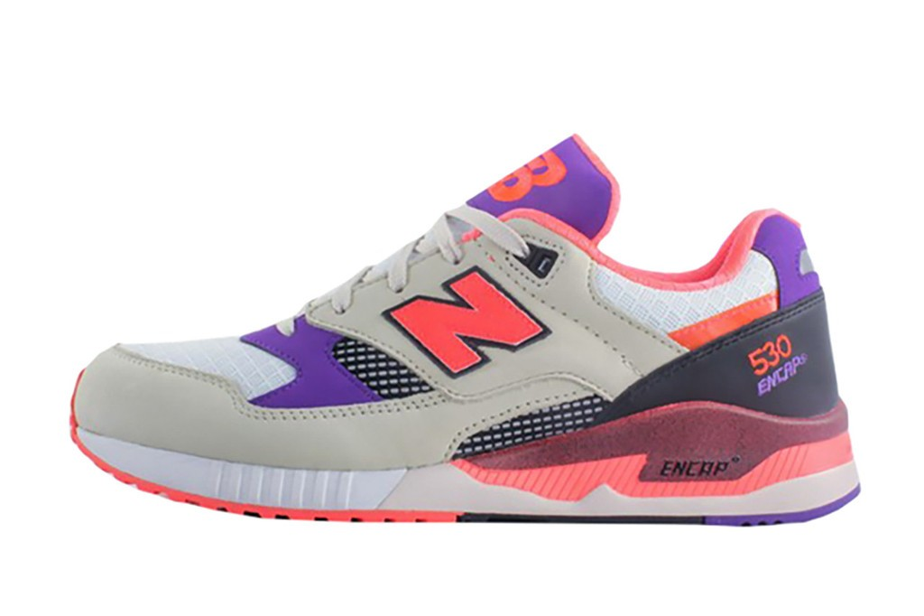 New Balance 530 West NYC Lava Shoes Men Off White / Beige / Purple – Fuchsia