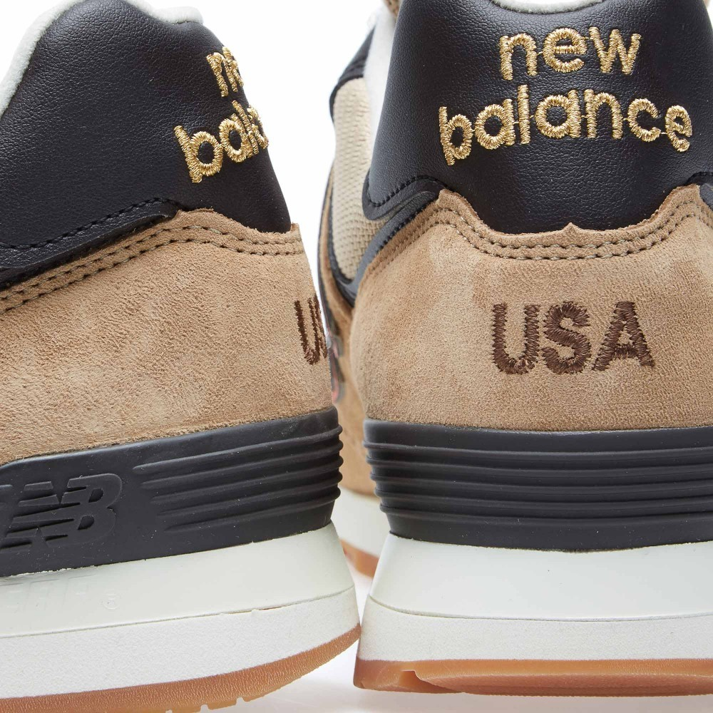 New Balance US574BB - Made In The USA Unisex Shoes For Running Tan Brown/Orange/Black
