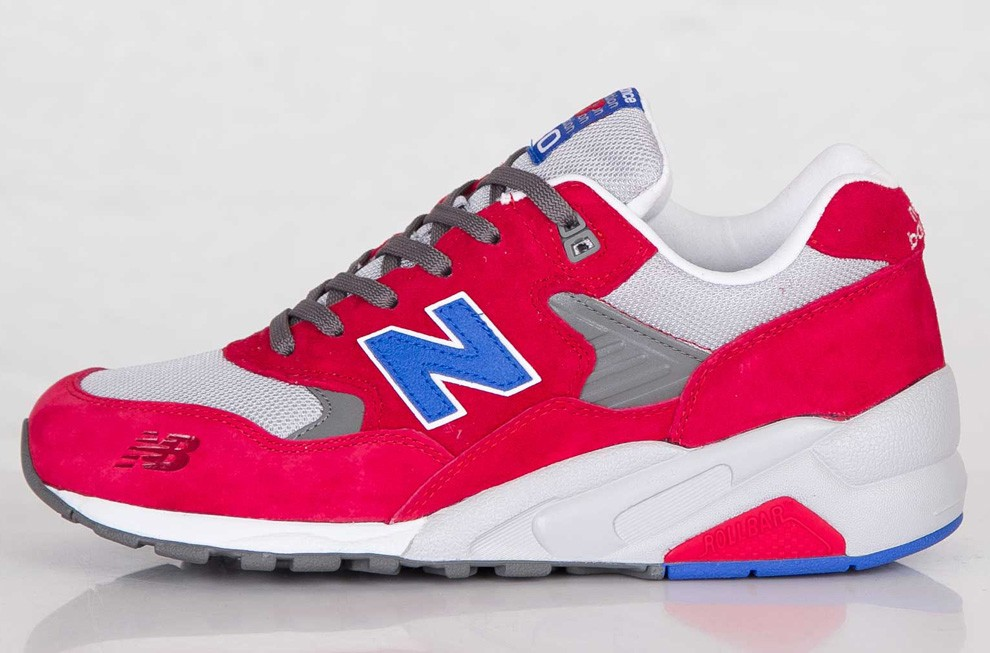 "New Balance ""Barber Shop"" Pack 580 Elite Edition Shoes For Men Red Grey Blue"
