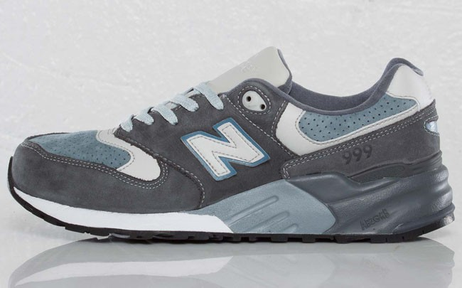 Ronnie Fieg New Balance 999 Steel Blue Running Sneaker For Men Steel Grey Blue
