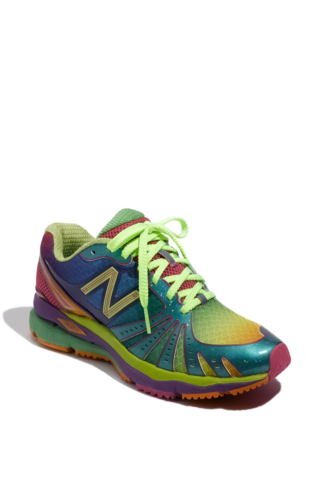 reputable site 73af1 2cdc0 Womens New Balance Multicolor 890 Rainbow Running shoes Blue Lime Green  Rose Purple