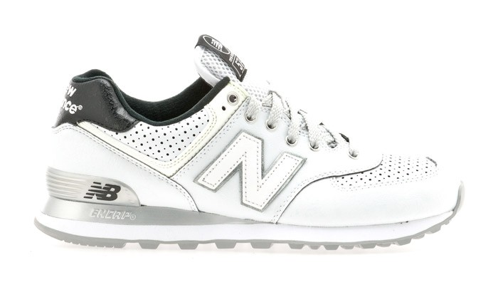 "New Balance 574 ""Moon Pack"" White Unisex Trainers White Grey Black ML574MWT"