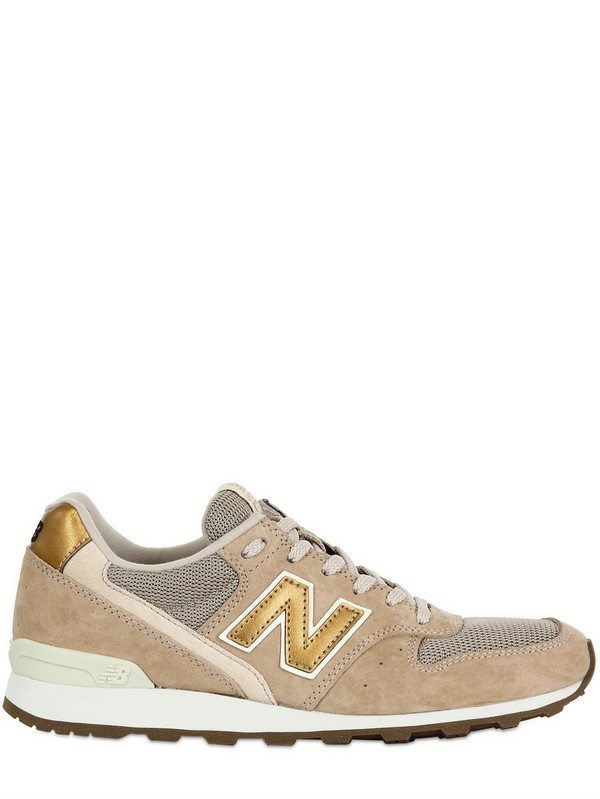 New Balance 996 Shoes Womens Beige Gold