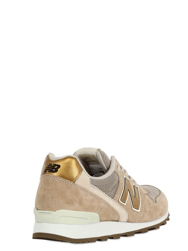 new balance wr996 sneaker beige gold suede