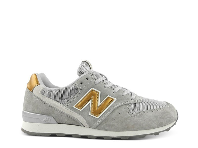 Womens New Balance WR996 DGR Runner Trainers Light Grey Gold