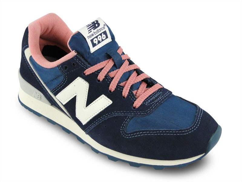 New Balance WR996 UBL Women Running Sneakers Dark Blue / Pink/White/Gray