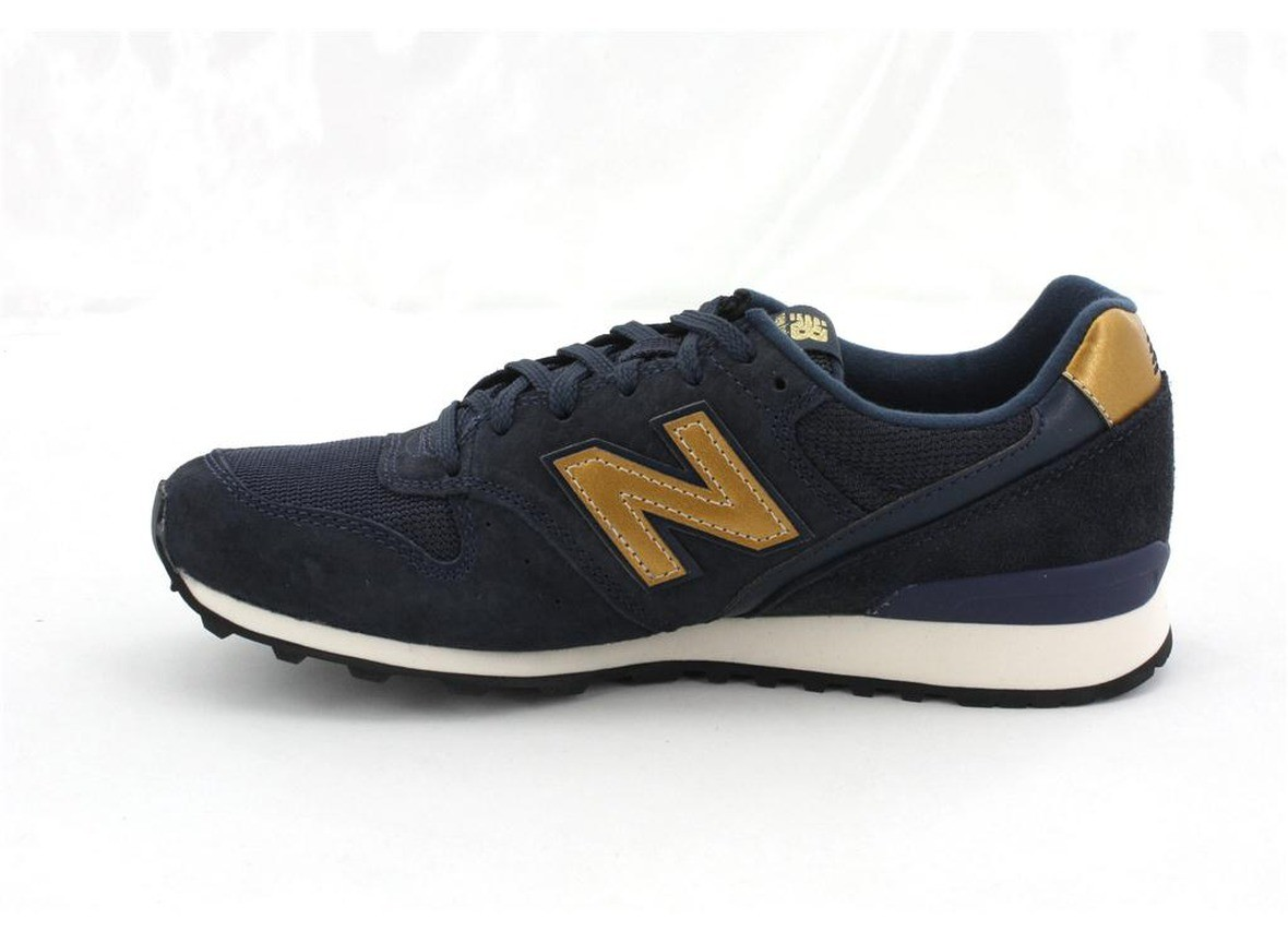 new product ee470 90a94 Online Shop Women New Balance 996 Shoes Dark Navy Blue Gold ...