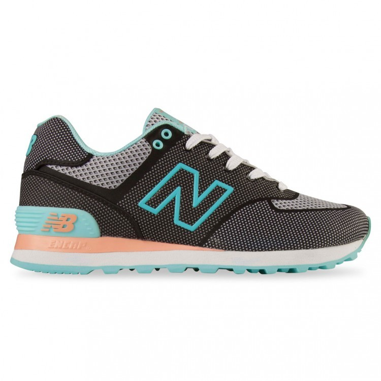 New Balance 574 Sonic Trainers For Women Black/Blue Sonic Alb