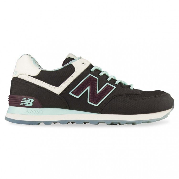 New Balance 574 Island Mens Running Shoes Black/Turquoise/Purple/Sail