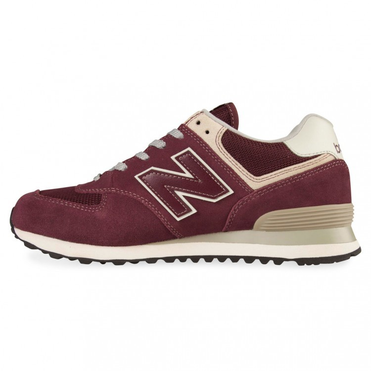New Balance 574 Vintage VWI Unisex Sneakers Burgundy Grey Sail