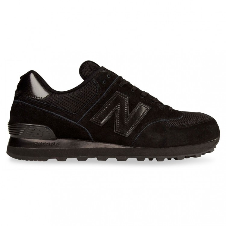 Unisex New Balance 574 Trainers Black/Black Tbk