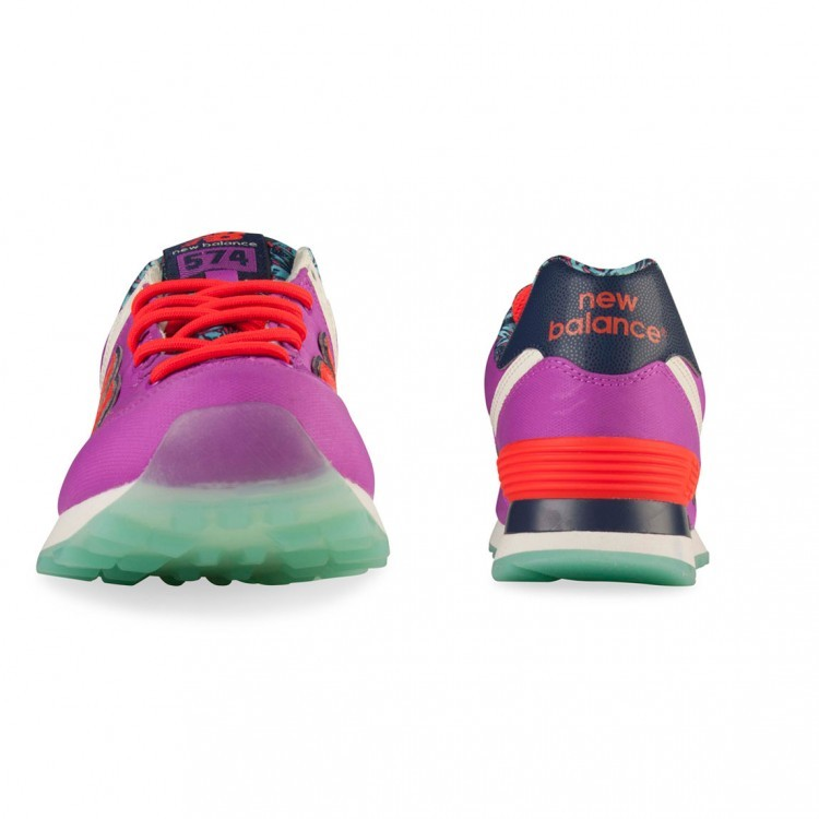 New Balance 574 Island ILB Running Shoes For Women Purple Coral Pink Navy Teal