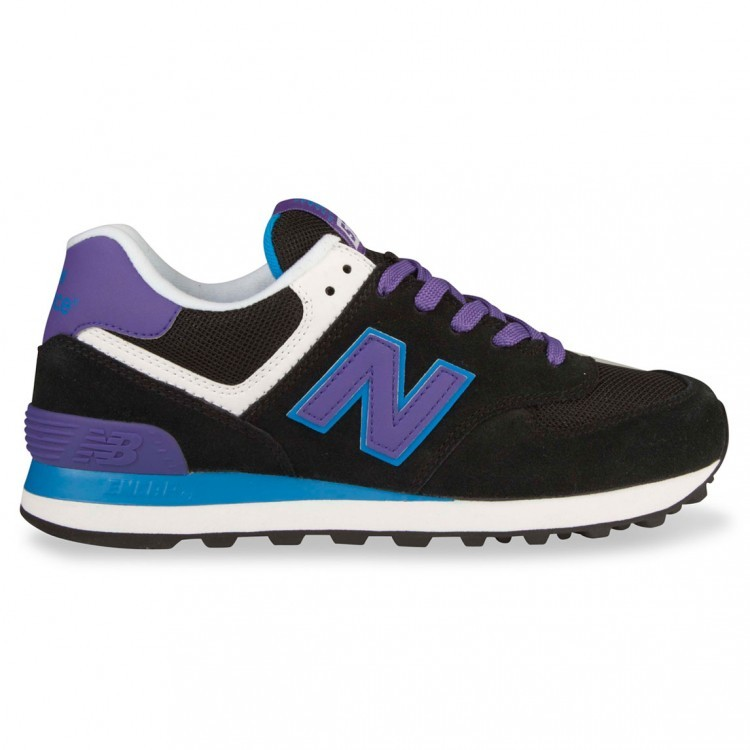 New Balance 574 Womens Sneakers Black/Purple Mox