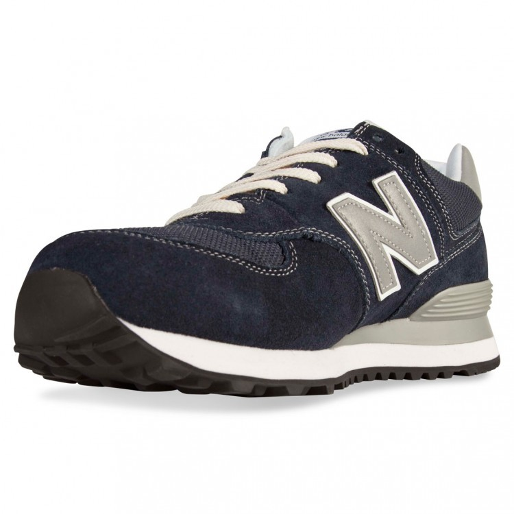 New Balance 574 Unisex Running Shoes Navy Silver Grey ML574NVS