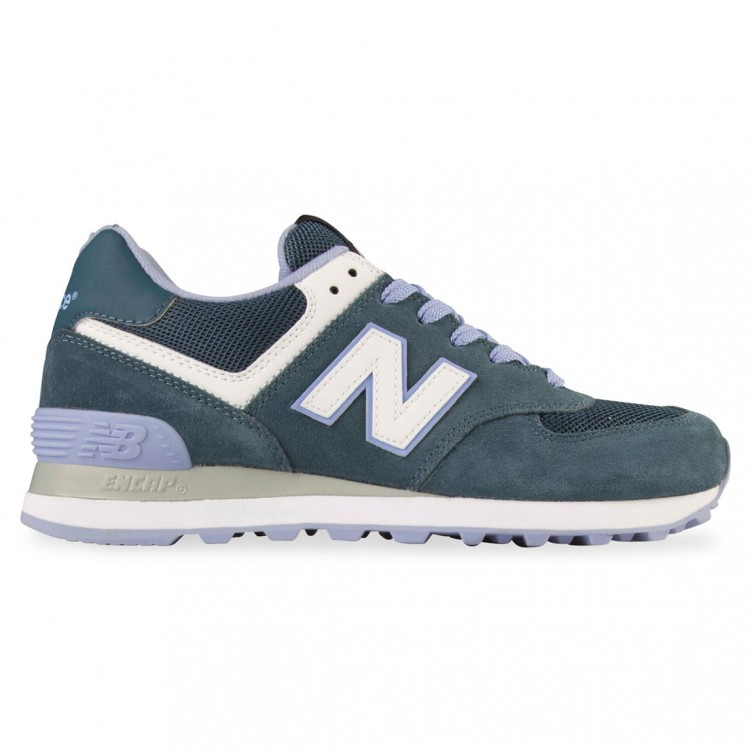 New Balance 574 Shoes For Running For Women Petrol/Purple White Cpd
