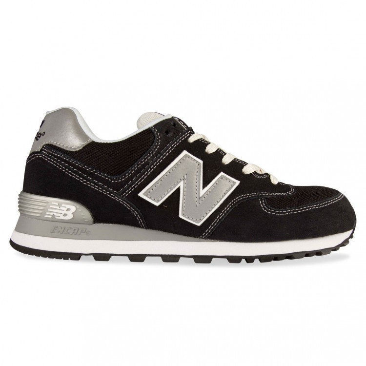 New Balance 574 Athletic Shoe Unisex Black Silver Grey ML574KWS