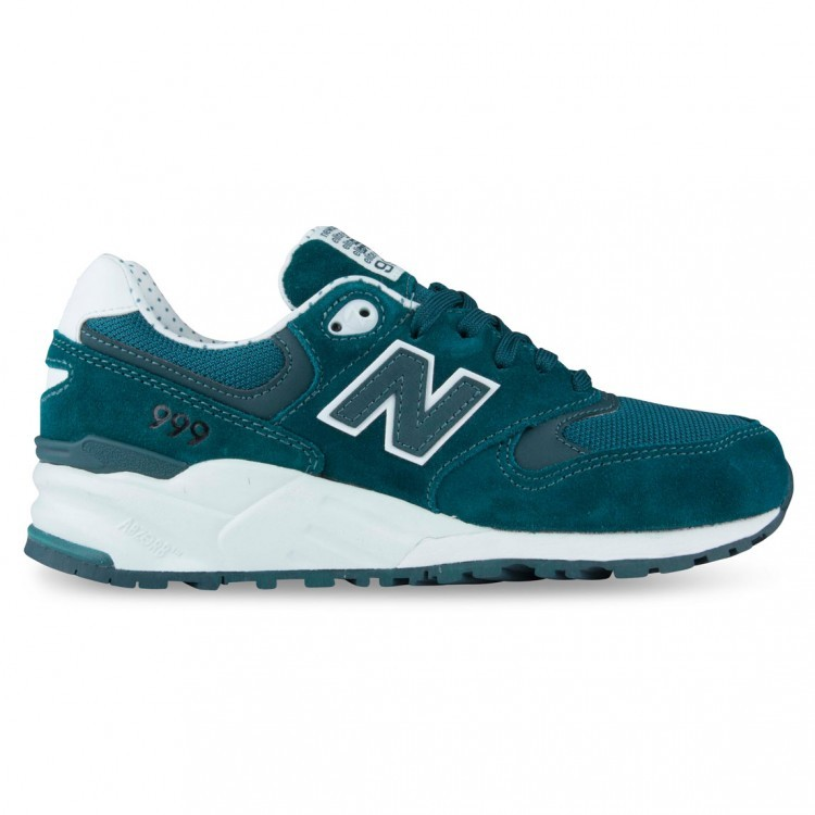 New Balance 999 Polka Dot Elite Edition Shadows WL999AB Sea Foam Women Walking Shoes Teal/Watergreen White