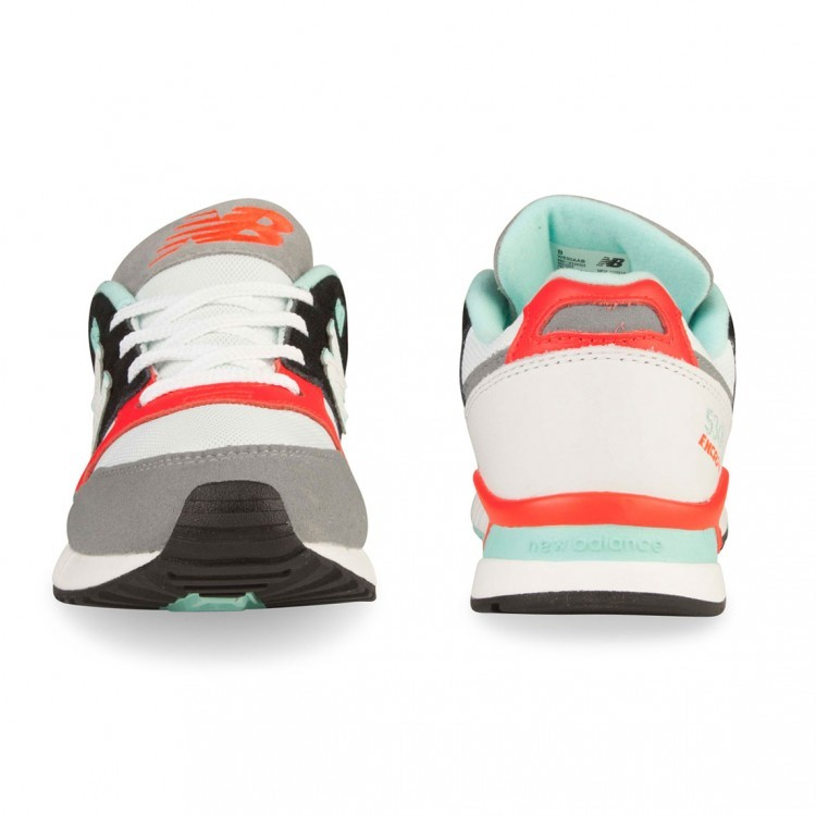 New Balance 530 Running Shoes Womens White/Orange/Aqua Aab