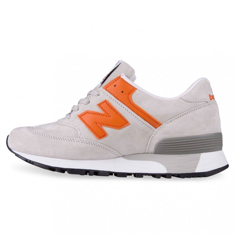 New Balance 576 Made In UK England Women Trainers Light Grey/Orange Pgo