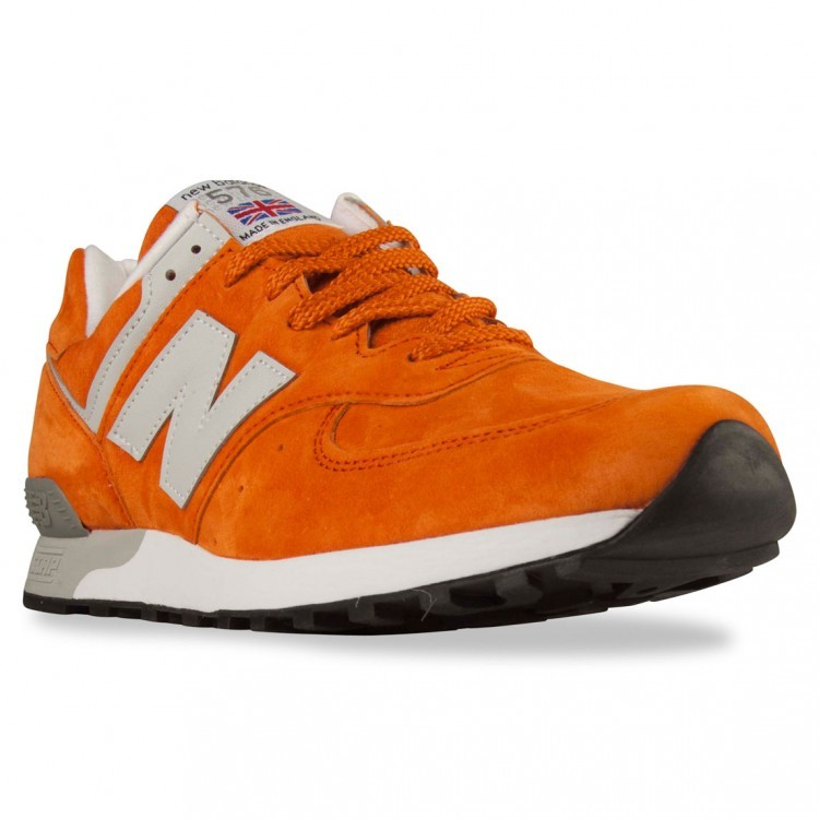 New Balance 576 Made In UK Walking Shoes Men Orange/Light Grey Pog