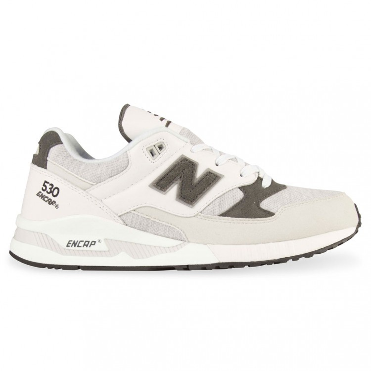 New Balance 530 Jersey Running Sneaker Men Grey/Black Chalk White Ccr