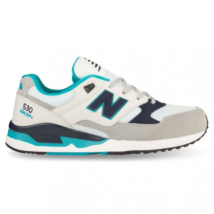 New Balance 530 Men Running Shoes White/Grey/Blue Acc