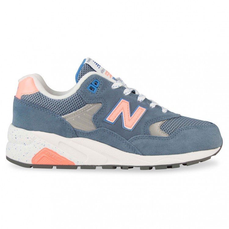 new balance 580 trainers in silver
