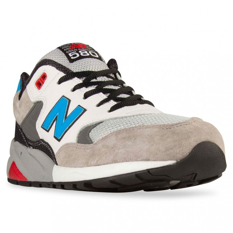 Men's New Balance RevLite 580 Elite Edition Riders Club Running Sneaker Grey/Black/Blue Yo