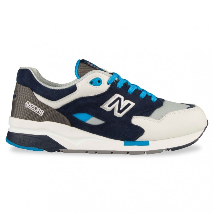 Men's New Balance 1600 Elite Edition Running Shoes White/Grey/Navy Co