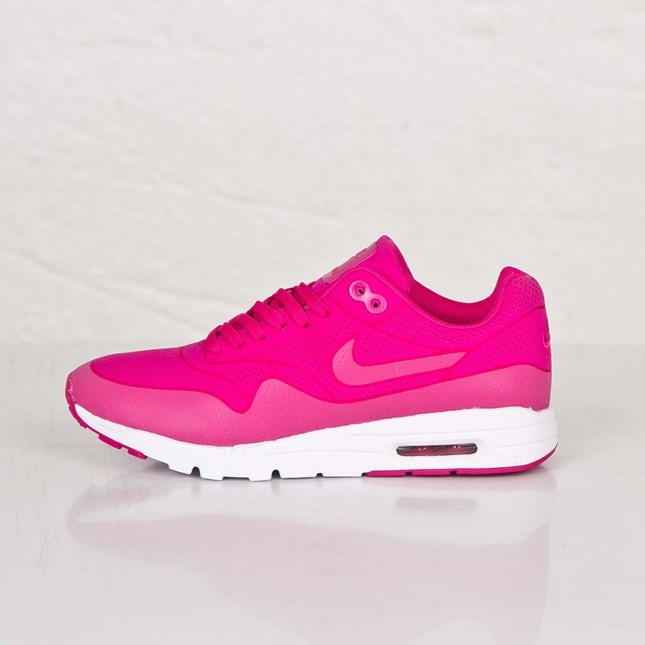 Nike Air Max 1 Ultra Moire 3M Reflective Running Shoes for Women Fireberry/Fireberry-White-Fireberry 704995-601