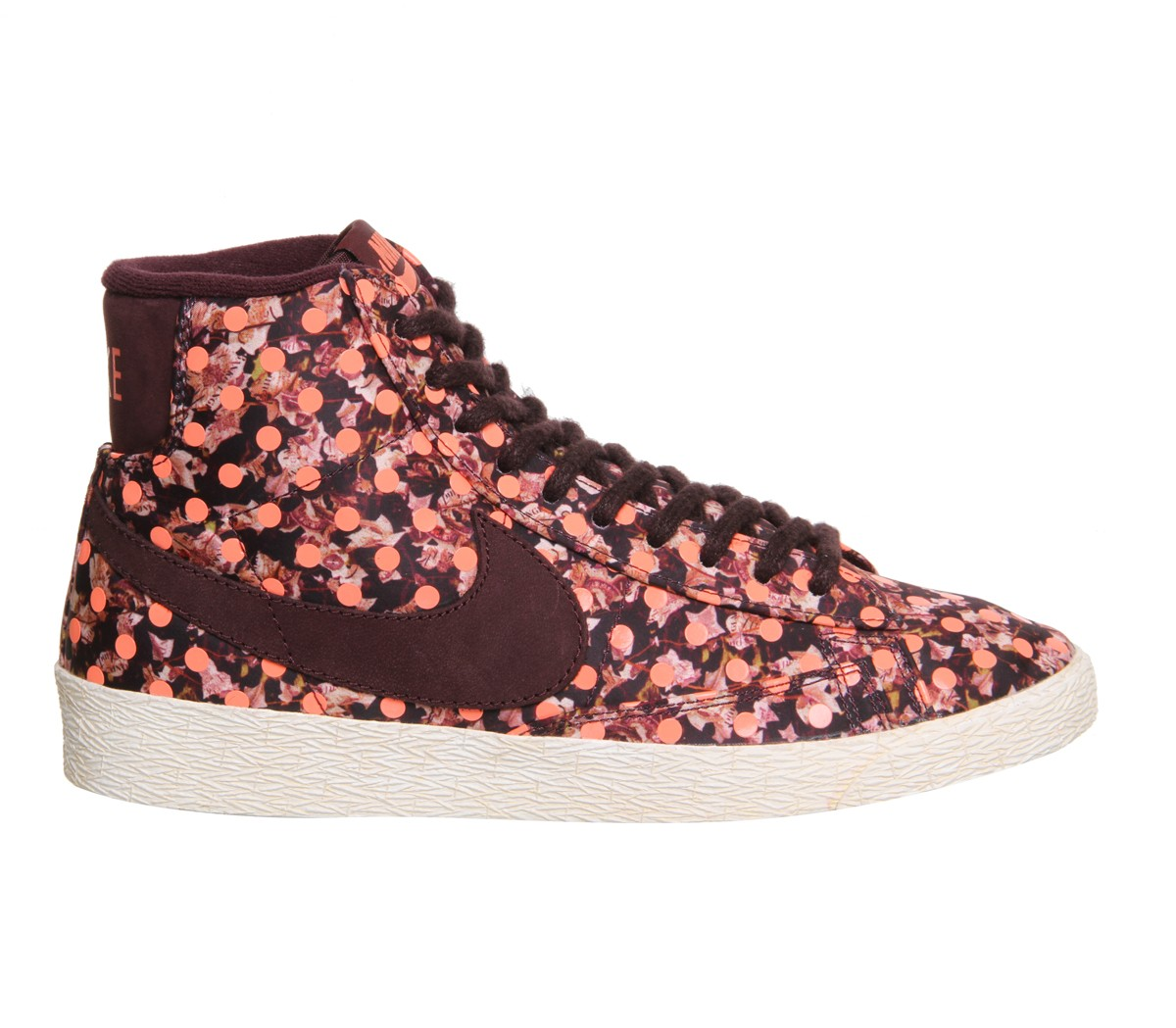 "Nike Blazer Mid Vintage Liberty Print ""Belmont Ivy Burgundy"" AW2014 Shoes Womens Deep Burgundy/Bright Mango 529037-600"