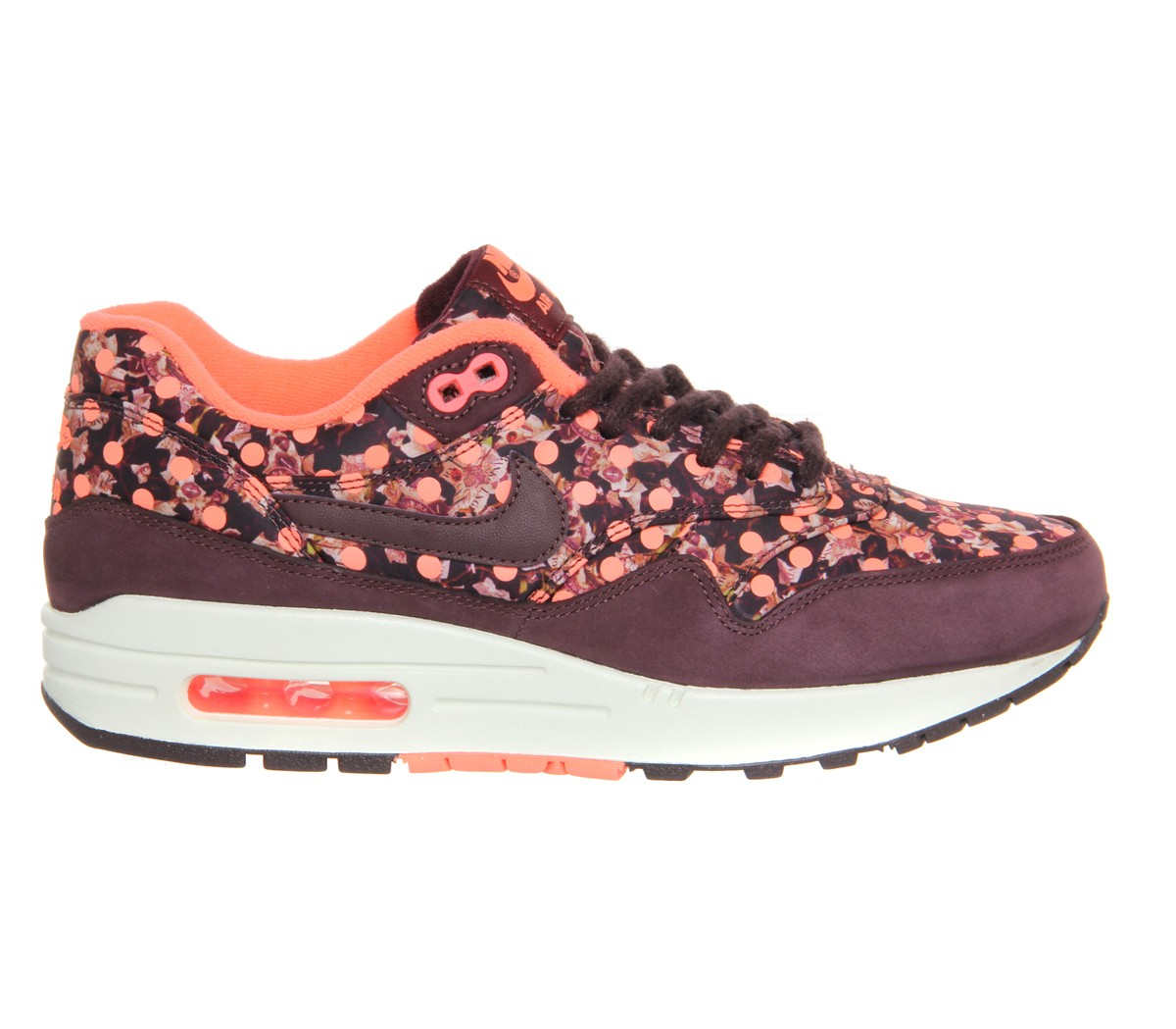 Nike WMNS Air Max 1 (I) Shoes Womens Liberty/Deep Burgundy/Bright Mango/Sail 540855-600