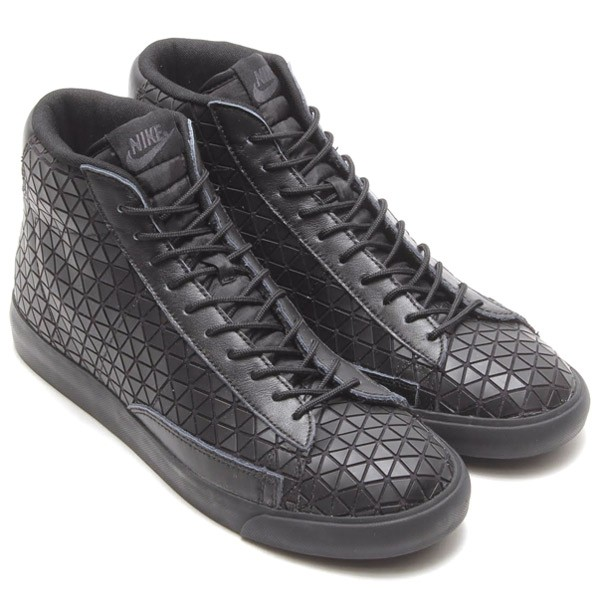 Nike Blazer Mid Metric QS (Triple Black) Shoes Mens Black/Black 744419-001