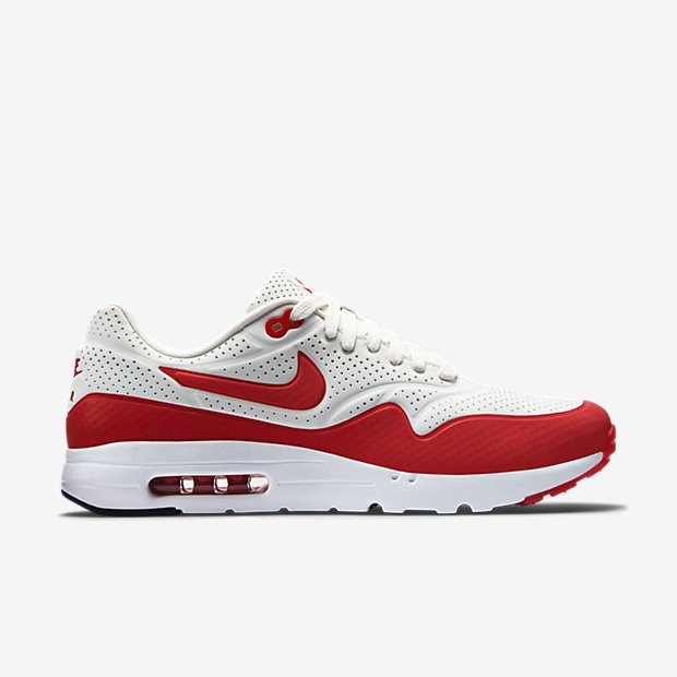Nike Air Max 1 Ultra Moire Summit 3M Reflective Mens Shoe Summit White/White/Anthracite/Challenge Red 705297-106