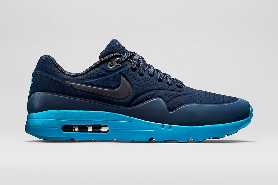 new style cc16f 04994 Nike Air Max 1 Ultra Moire 3M Reflective Mens Shoe Midnight NavyNew Slate