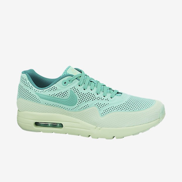 "Nike Air Max 1 NM Ultra Moire ""Teal"" 3M Reflective Womens Shoes Green Glow/Vapor Green/Emerald Green/Menta 705297-300"