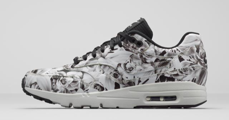 "Nike Air Max 1 Ultra New York ""City Pack"" Print Rose Bloom Womens Shoes Black/Summit White/Black/Black 747105-001"