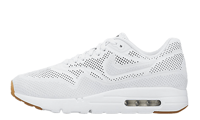 Nike Air Max 1 Ultra Moire All White Womens Shoes White/White 705297-111