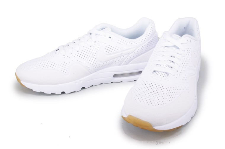 Nike Air Max 1 Ultra Moire All White Sneakers for Men White/White 705297-111