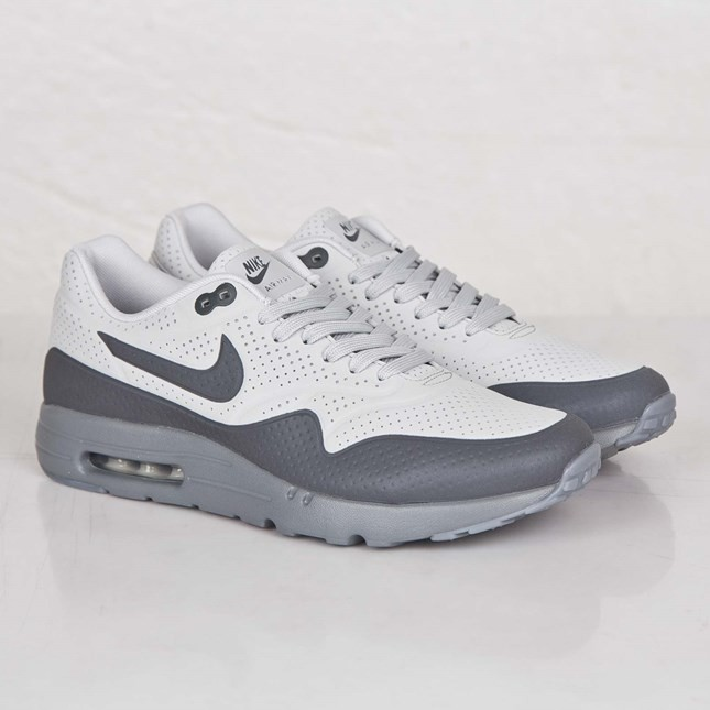 Nike Air Max 1 Ultra Moire 3M Reflective Running Shoes for Men Neutral Grey/Cool Grey/Dark Grey/Chalk White 705297-002