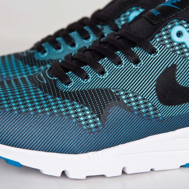 Nike Air Max 1 Ultra Jacquard Sneakers for Women Clearwater/Black-Light Blue Liquour-White 704999-400