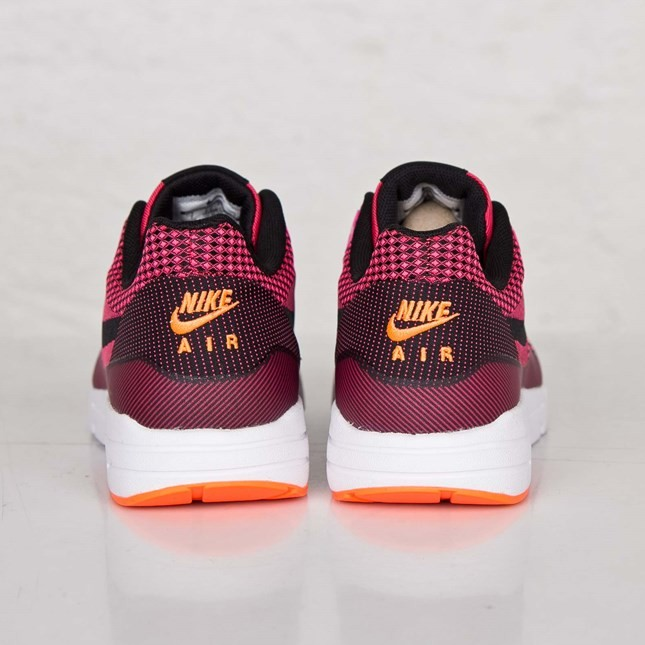 Nike Air Max 1 Ultra Jacquard Womens Shoes Pink Powder/Black-Flash Lime-Total Orange 704999-600