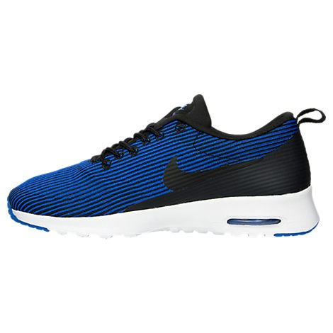 Women's Nike Air Max Thea Jacquard Running Shoes Black/Racer Blue/White 718646-006
